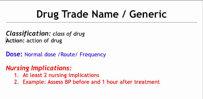 Drug Card Template Microsoft Word Fresh Drug Card Template & Drug Table Template – Spirit Of Nursing