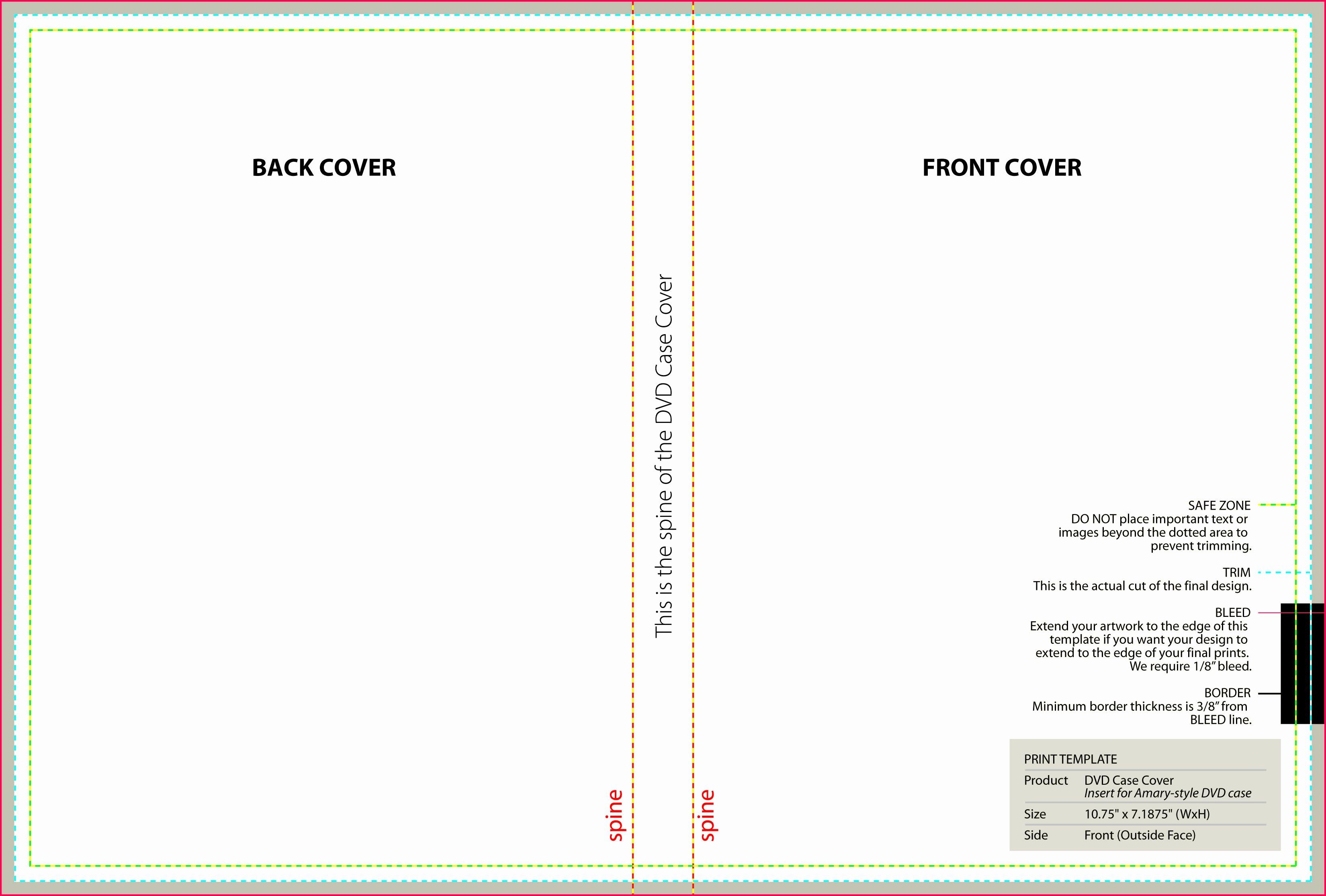 Dvd Cover Design Template Beautiful Standard Templates