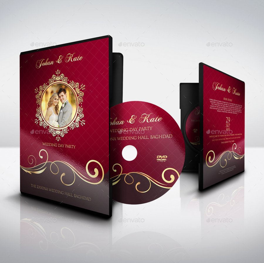 Dvd Cover Design Template Unique Wedding Cd Dvd Cover – Free Psd Brochure Template