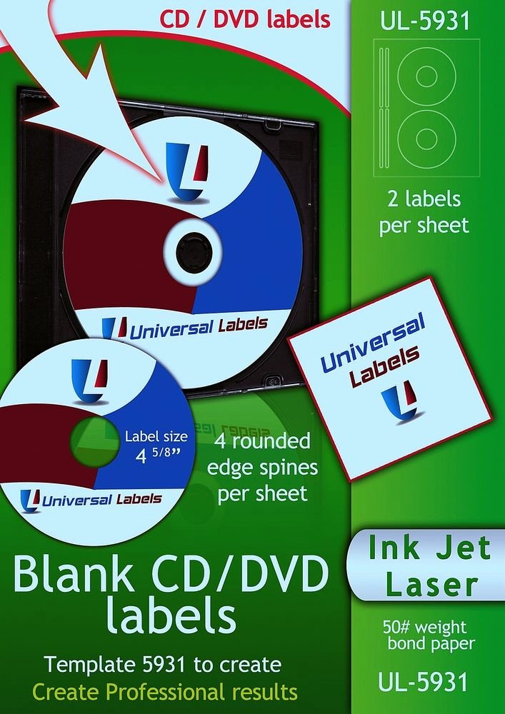 Dvd Label Template Awesome 500 Cd or Dvd Labels 5931 & 8931 Label Template to