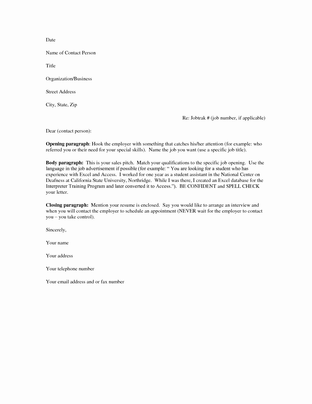 Easy Cover Letter Samples Elegant Basic Cover Letter for A Resume