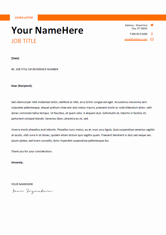 Easy Cover Letter Samples Lovely Montjuic Clean and Simple Resume Template