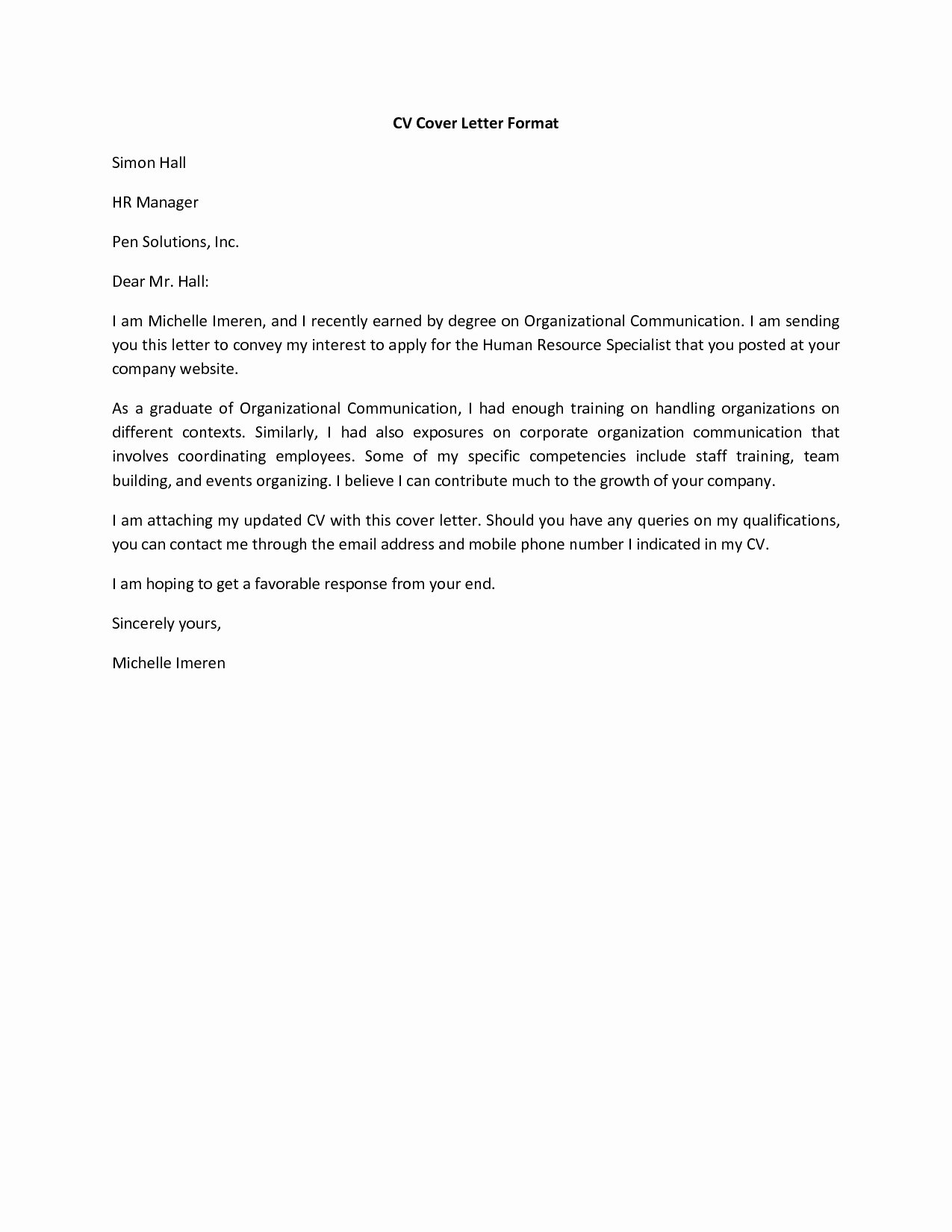 Easy Cover Letter Samples Luxury Basic Cover Letter for A Resume