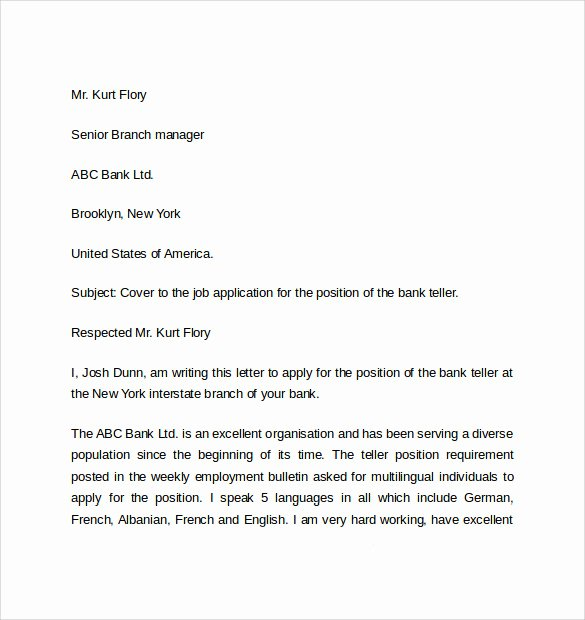 Easy Cover Letter Samples Luxury Simple Cover Letter Examples 10 Download Free Documents