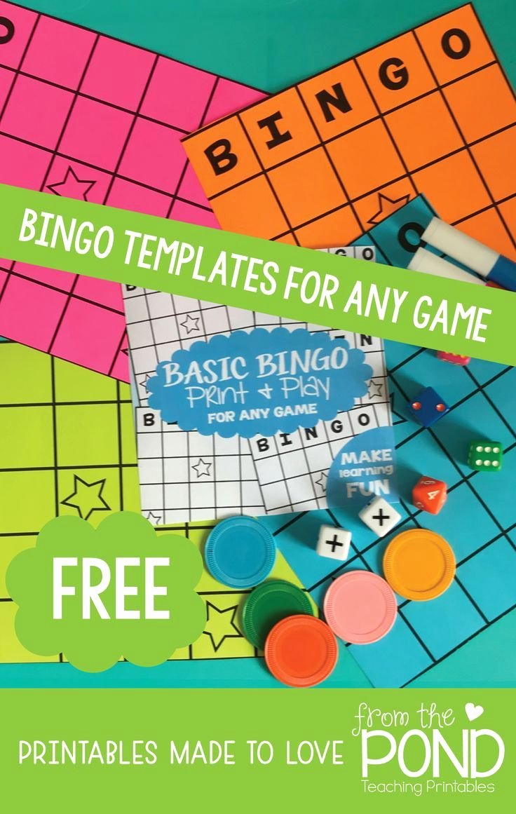 Editable Board Game Templates Awesome Free Bingo Board Editable for Any Content