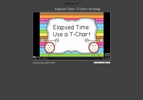 Elapsed Time T Chart Best Of 9 Best Math Arrays Images On Pinterest