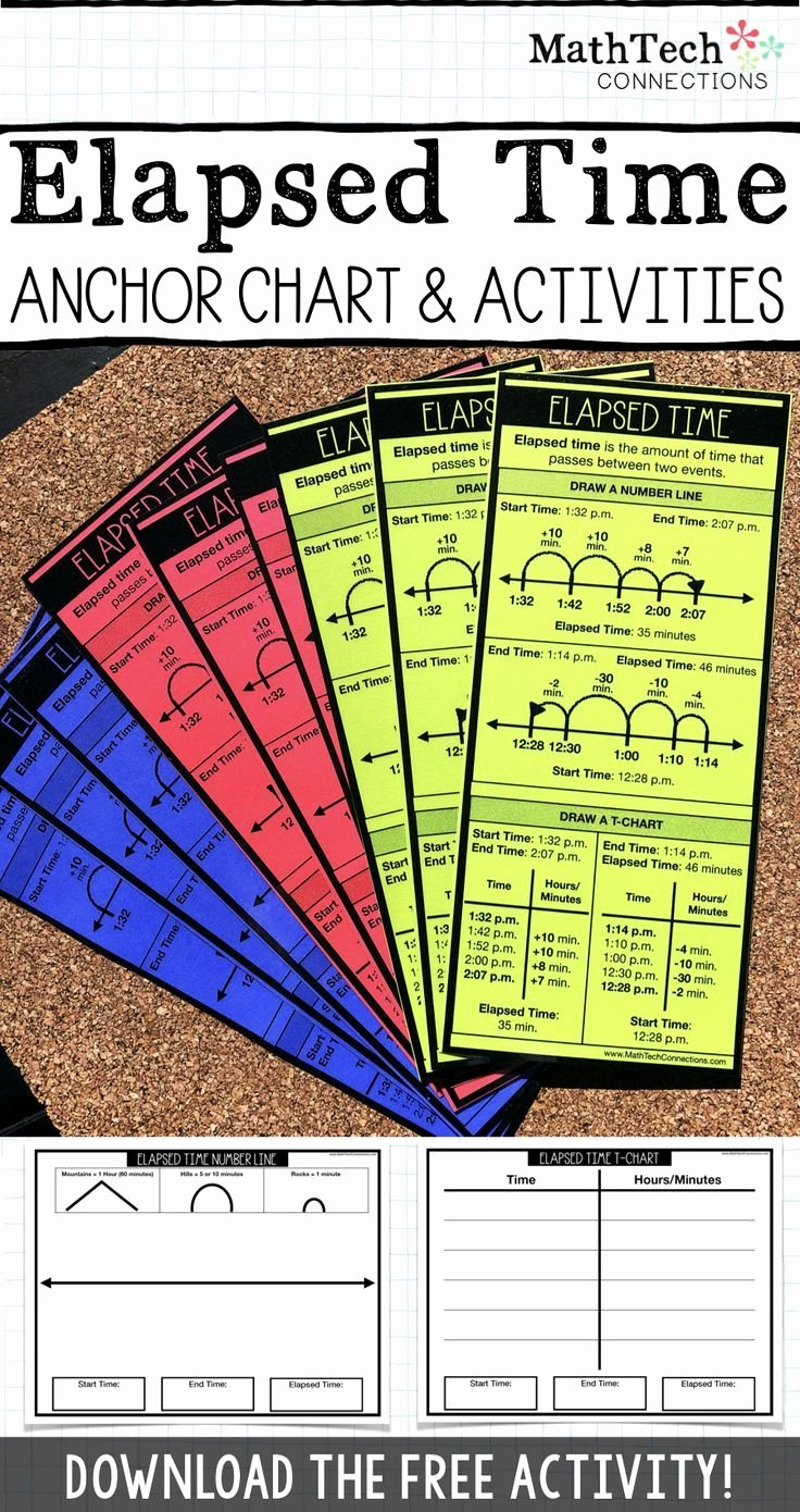Elapsed Time T Chart Inspirational Students Can Refer to This Elapsed Time Strategies