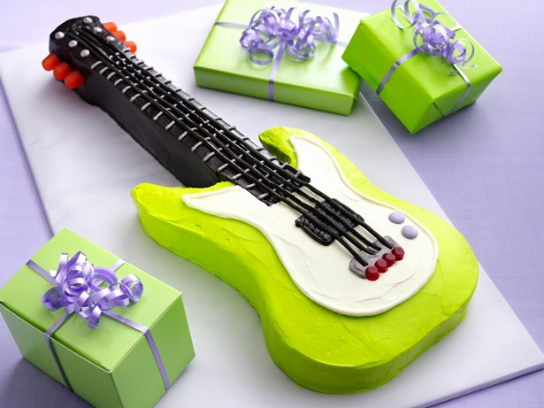 Electric Guitar Birthday Cake Beautiful Electric Guitar Cake Recipe From Betty Crocker
