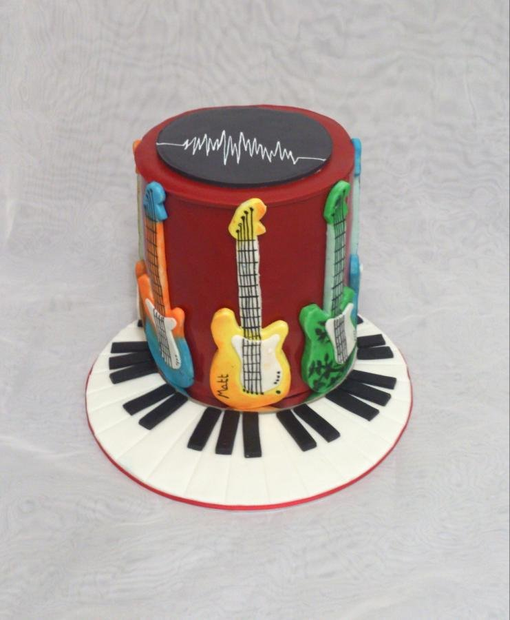 Electric Guitar Birthday Cake Beautiful Electric Guitars Cake by Julescarter Cakesdecor
