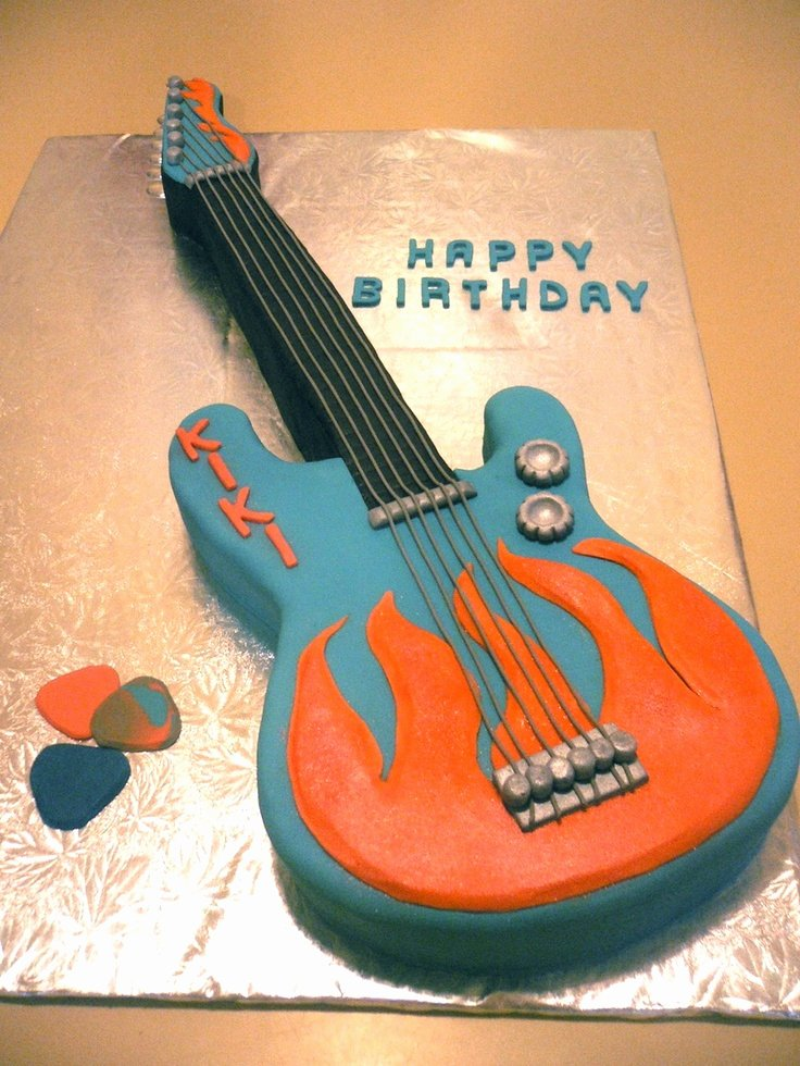 Electric Guitar Birthday Cake Elegant 17 Best Images About Guitar Party On Pinterest