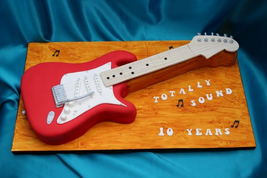 Electric Guitar Birthday Cake Elegant Fender Stratocaster Style Electric Guitar Cake