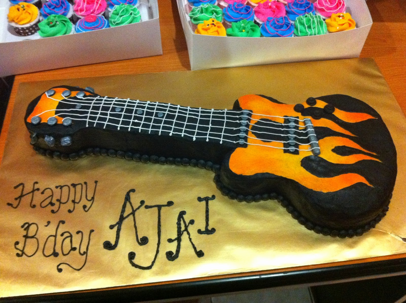 Electric Guitar Birthday Cake Elegant Home May De Cakes Princess Doll Cake and Rock N Fire