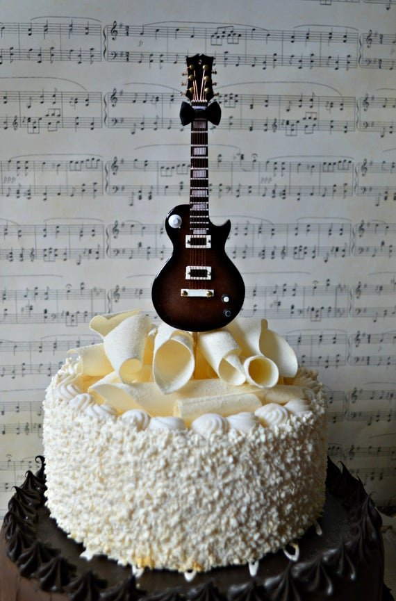 Electric Guitar Birthday Cake Inspirational Electric Guitar Wedding Birthday Grooms Cake Cake
