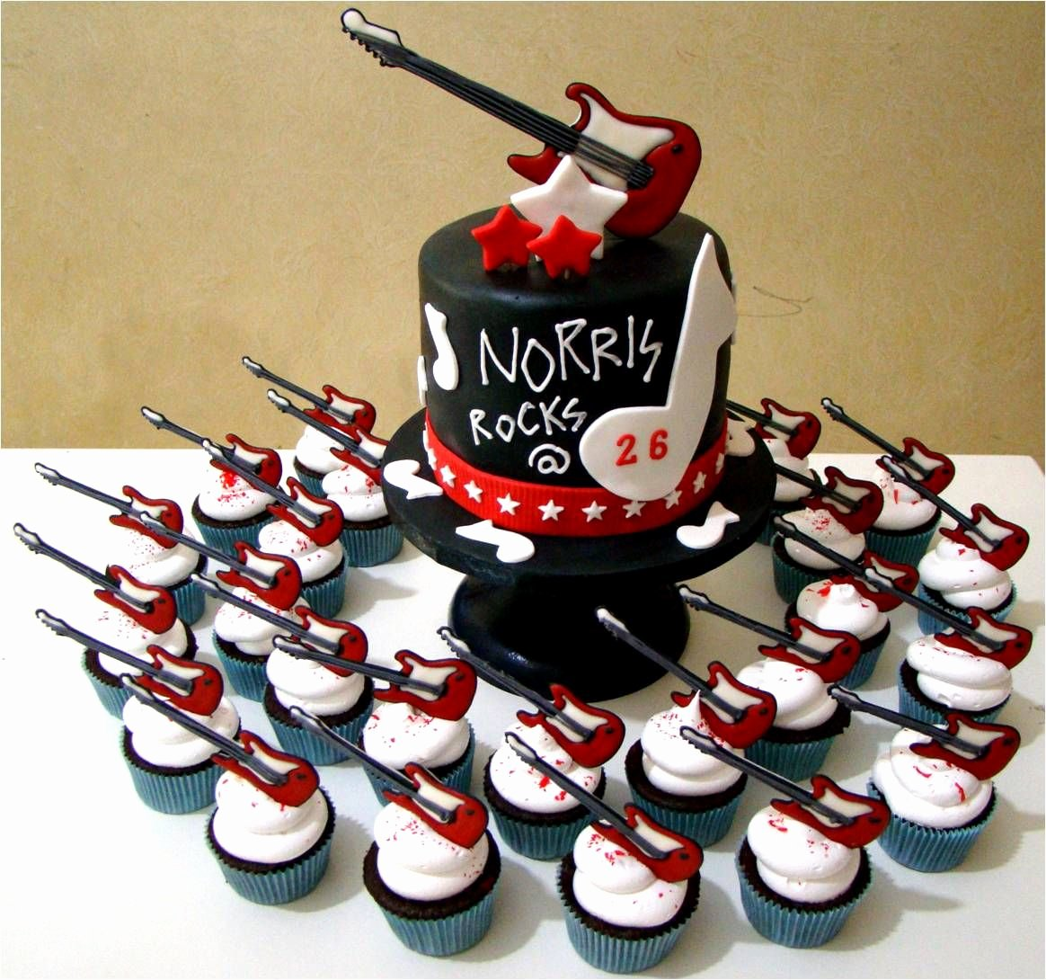 Electric Guitar Birthday Cake Lovely Electric Guitar Cupcake Cake Httpg Cakes Birthday2