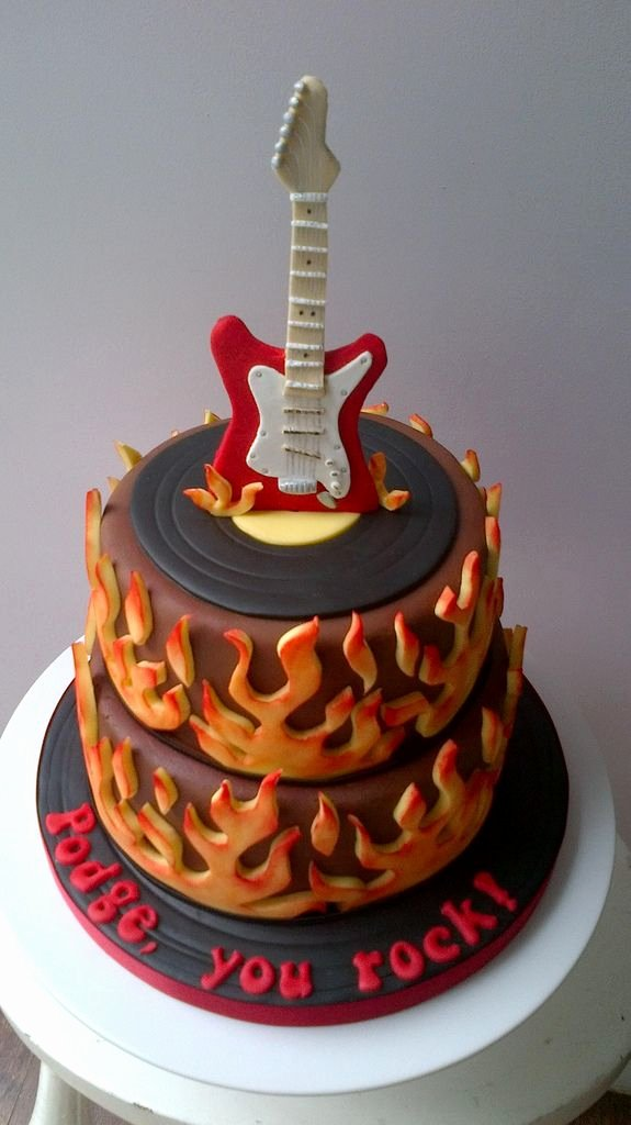 Electric Guitar Birthday Cake Luxury Best 25 Guitar Birthday Cakes Ideas On Pinterest