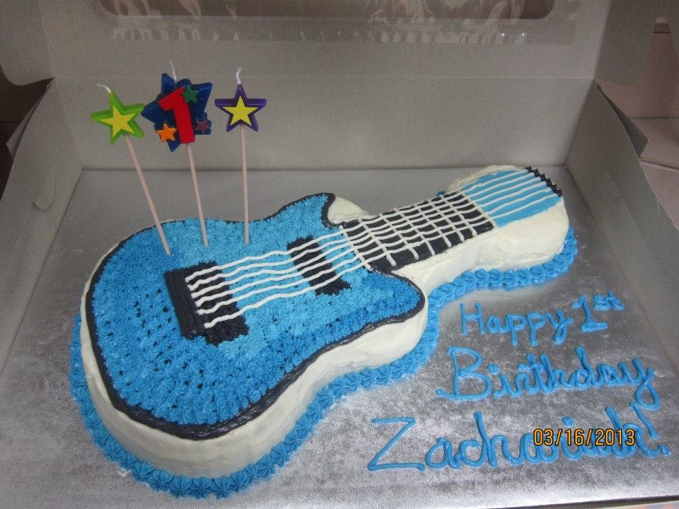 Electric Guitar Birthday Cake Luxury Cassie S Cakes and Sweets Rockin 1st Birthday Drums and