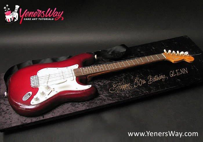 Electric Guitar Cake Pan Beautiful 3d Fender Electric Guitar Cake Cake by Serdar Yener