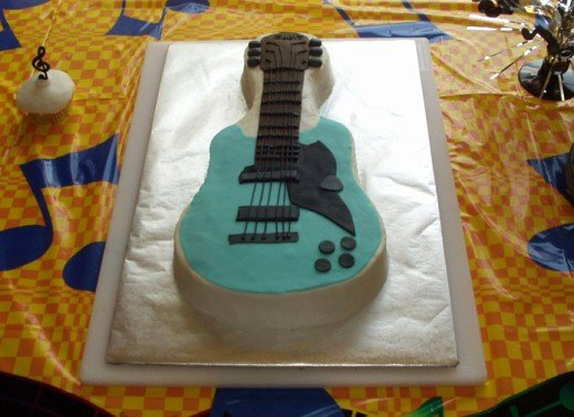 Electric Guitar Cake Pan Inspirational How to Make A Guitar Shaped Cake