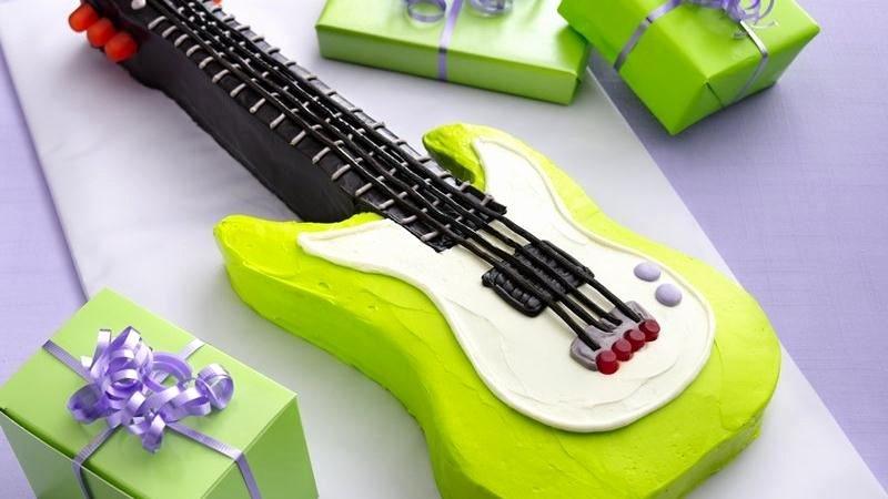Electric Guitar Cake Pan Lovely Electric Guitar Cake Recipe From Betty Crocker