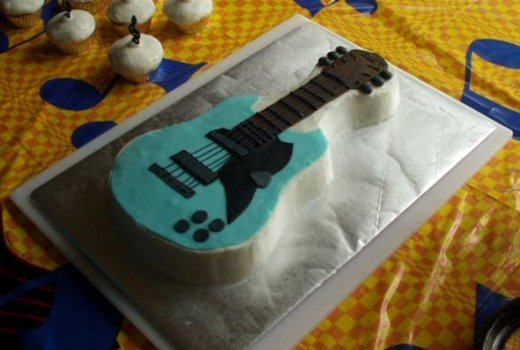 Electric Guitar Cake Pan Lovely How to Make A Guitar Shaped Cake