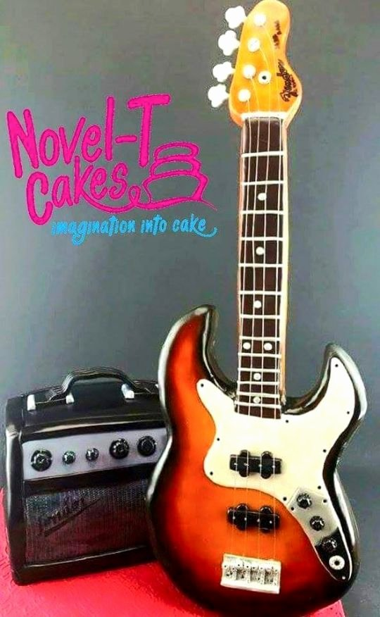 Electric Guitar Cake Pan New Guitar and and Cake Cake by Novel T Cakes Cakesdecor