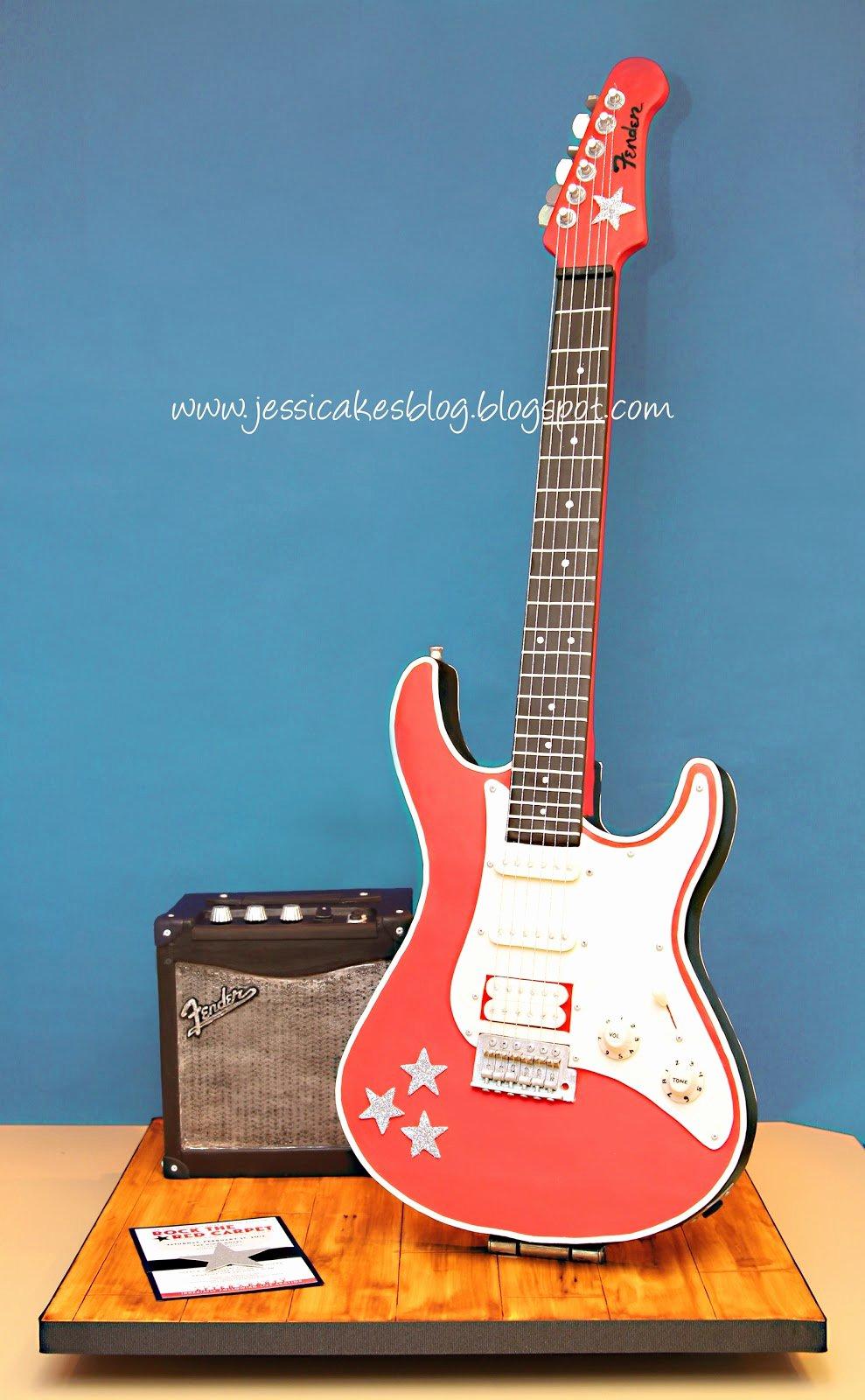 Electric Guitar Cake Pan New Stand Up Electric Guitar Cake Jessica Harris Cake Design