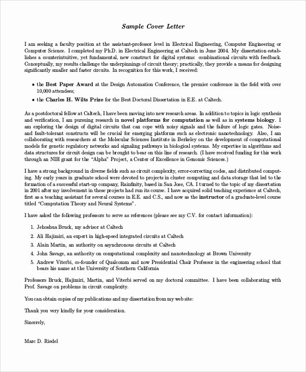 Electrical Engineering Cover Letter Sample Best Of Sample Engineering Cover Letter 7 Examples In Pdf