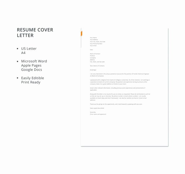 Electrical Engineering Cover Letter Sample Inspirational 20 Simple Cover Letter Templates Pdf Doc