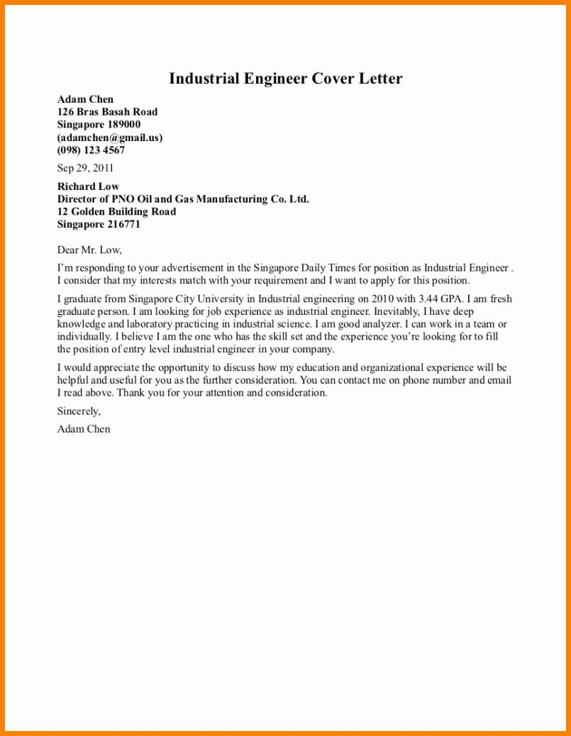 Electrical Engineering Cover Letter Sample Luxury 8 Electrical Engineering Sample 2016