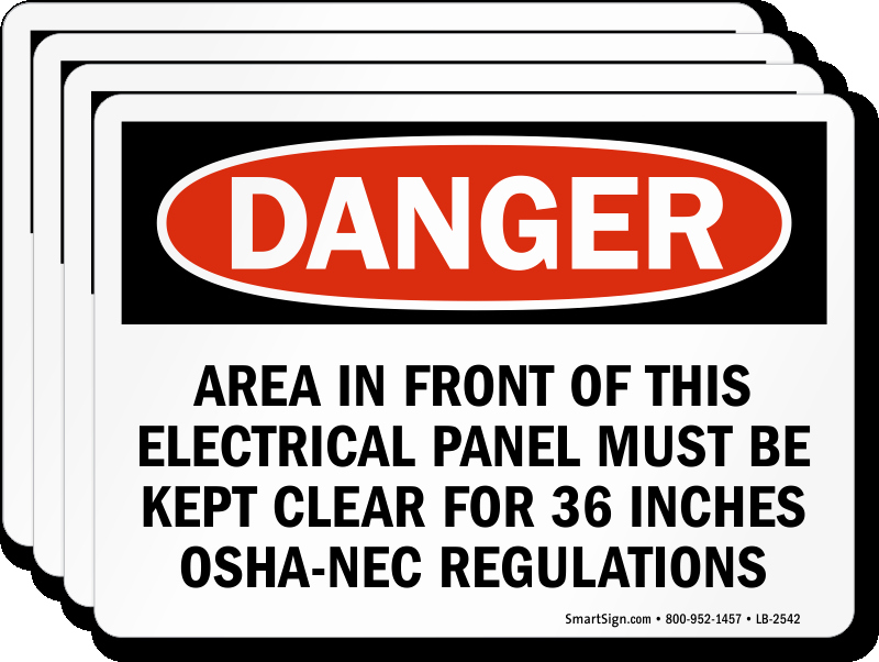 Electrical Panel Labels Awesome area In Front Electrical Panel Must Be Kept Clear Label