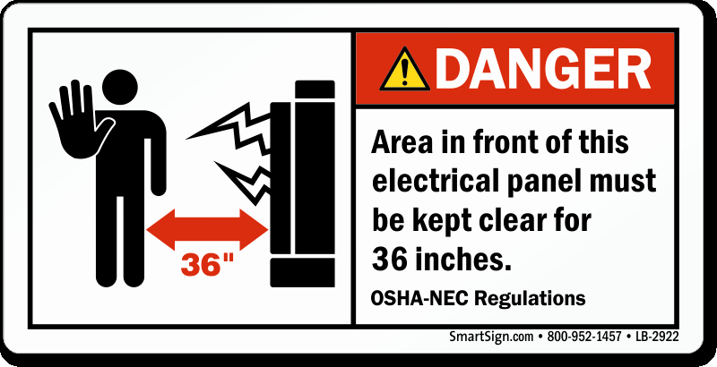 Electrical Panel Labels Lovely area In Front Of Electrical Panel Clear for 36 Inches