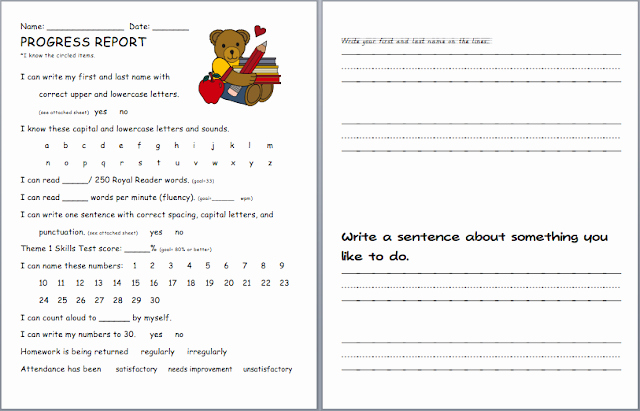 Elementary Progress Report Templates Best Of Elementary School Progress Report Template
