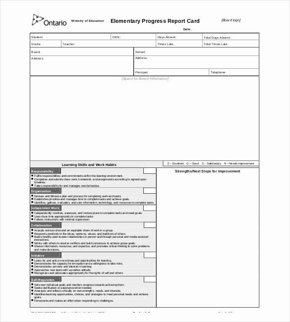 Elementary Progress Reports Template Elegant Progress Report Template 29 Free Word Pdf Google Docs