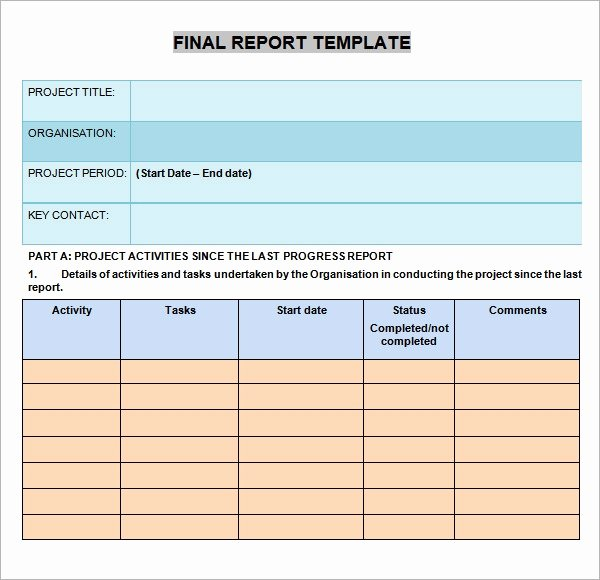 Elementary Progress Reports Template Fresh Free Progress Report Templates Elementary Free software