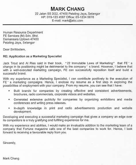 Elements Of A Cover Letter Awesome Cover Letter Example that S Job Interviews