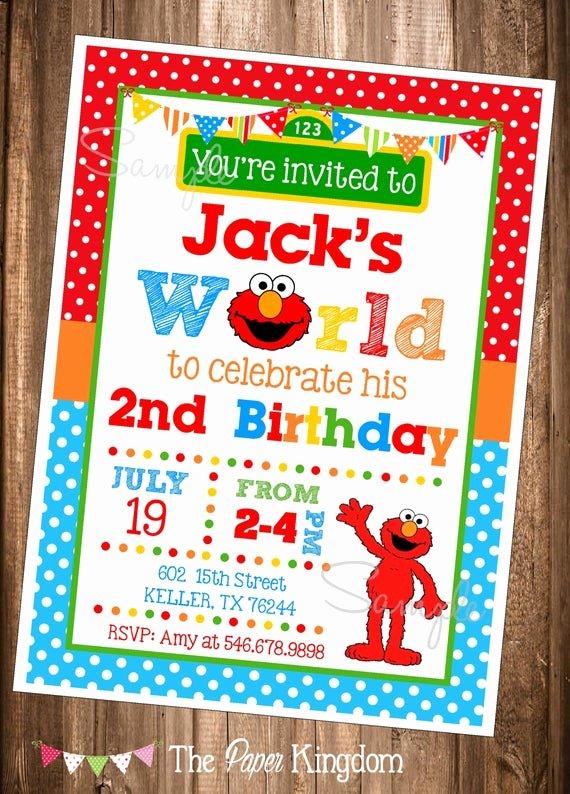 Elmo Birthday Invitation Templates Free Awesome Elmo Invitations Printable Elmo Invitations Elmo S