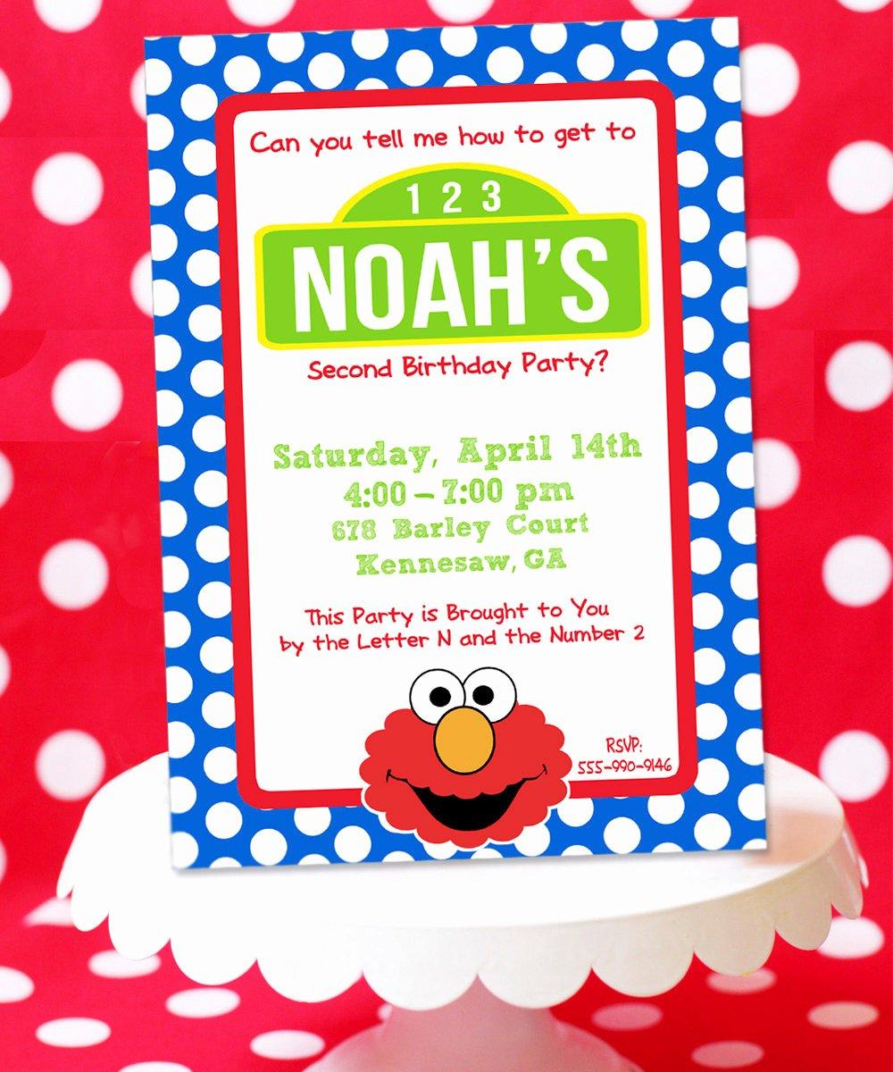 Elmo Birthday Invitation Templates Free Best Of Elmo Birthday Invitation Sesame Street by Amandaspartiestogo