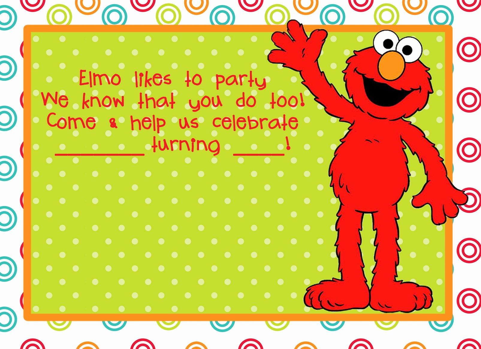 Elmo Birthday Invitation Templates Free Best Of Elmo Birthday Party On Pinterest