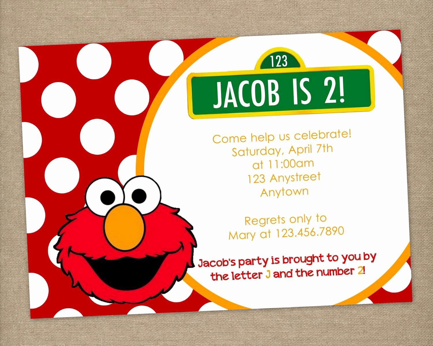 Elmo Birthday Invitation Templates Free Best Of Elmo Invitation Templates