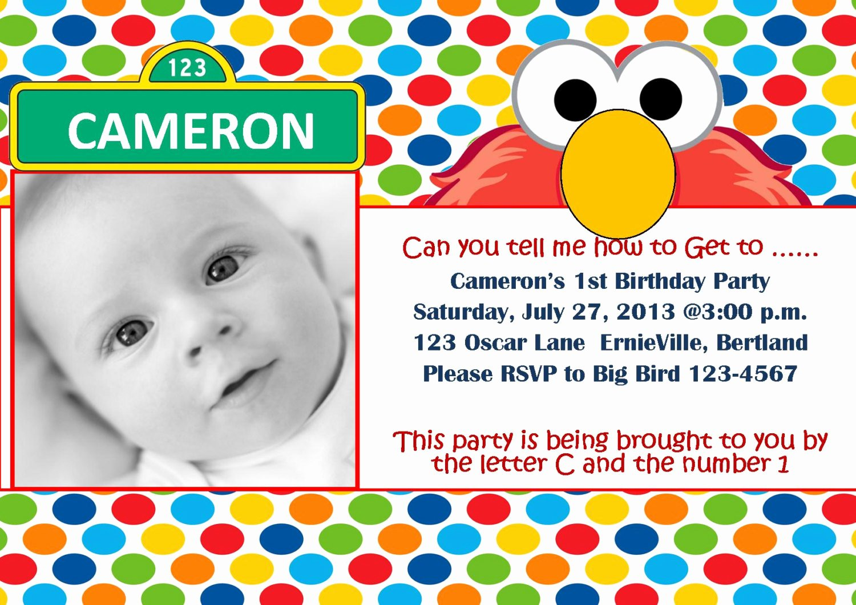Elmo Birthday Invitation Templates Free Best Of Free Printable Elmo 1st Birthday Invitations Template