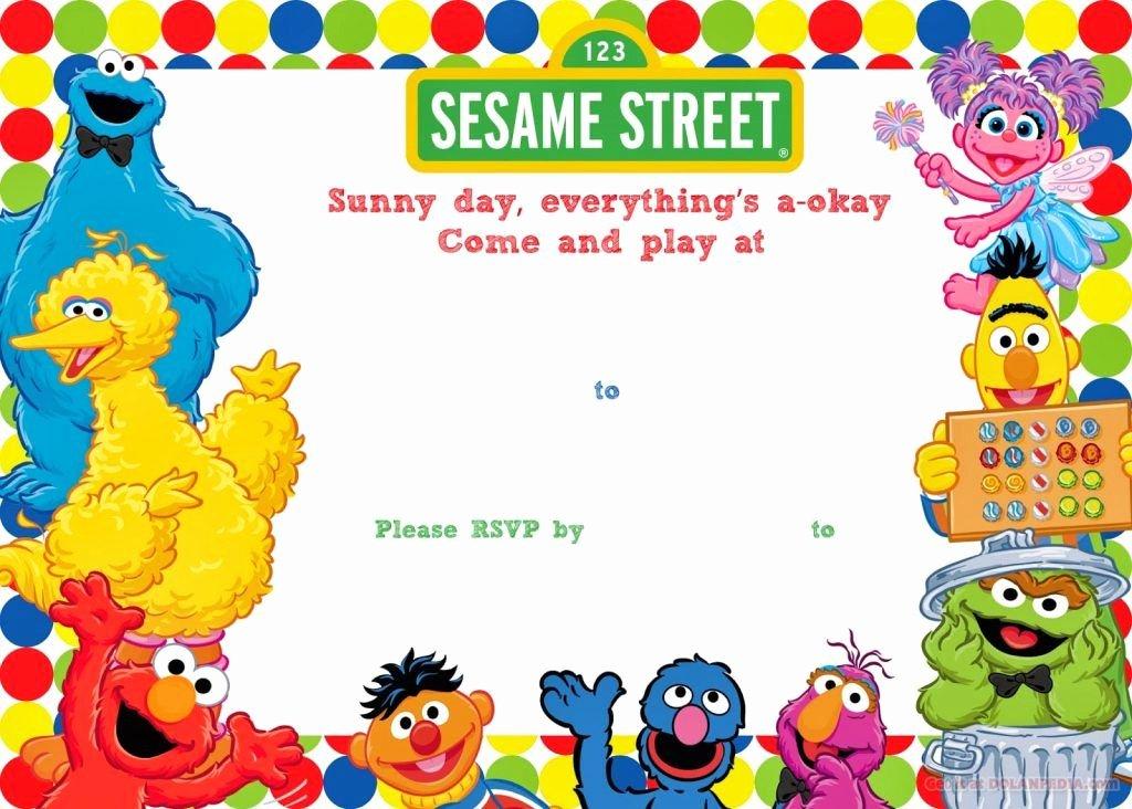Elmo Birthday Invitation Templates Free Best Of Free Printable Sesame Street Birthday Invitation