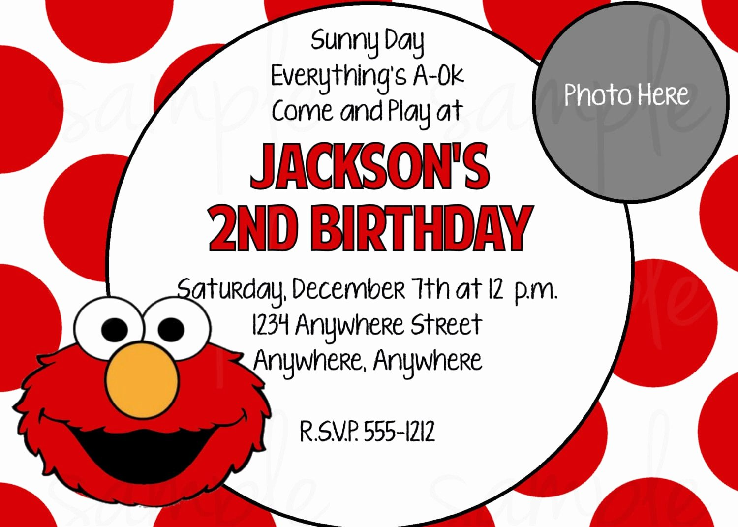 Elmo Birthday Invitation Templates Free Elegant Elmo Printable Birthday Invitation