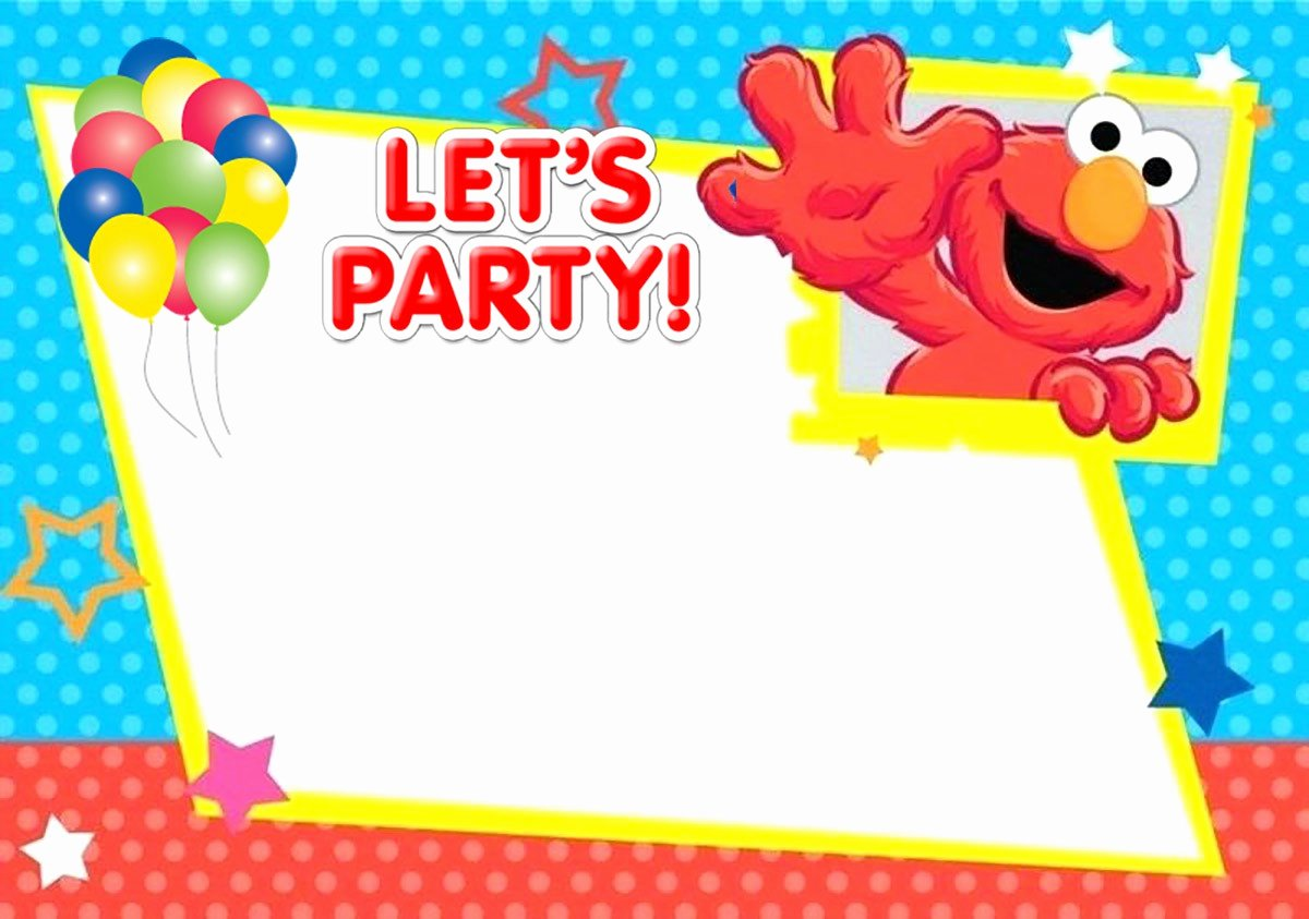 Elmo Birthday Invitation Templates Free Elegant Free Printable Elmo Birthday Invitation Card