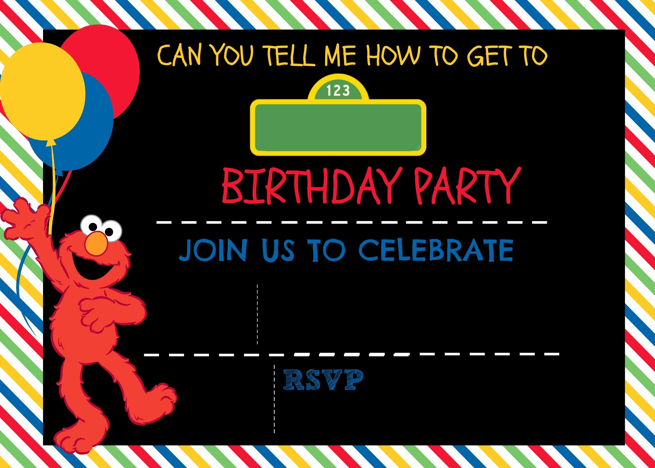 Elmo Birthday Invitation Templates Free Fresh How to Make A Sesame Street Digital Invitation