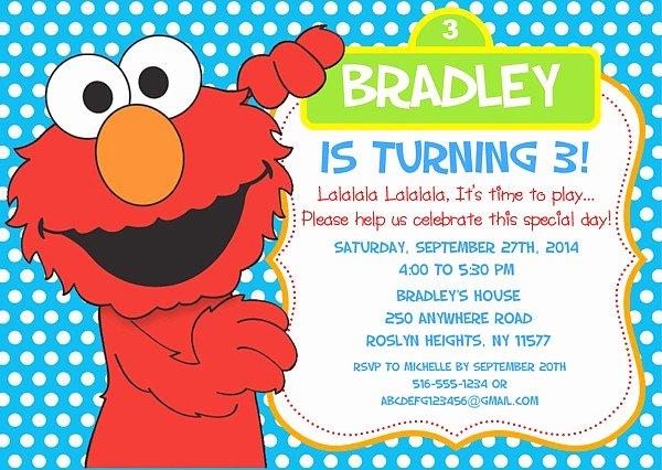 Elmo Birthday Invitation Templates Free Lovely Free Printable Elmo Birthday Invitations