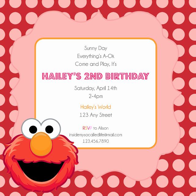Elmo Birthday Invitation Templates Free Luxury Free Invitation Templates Elmo