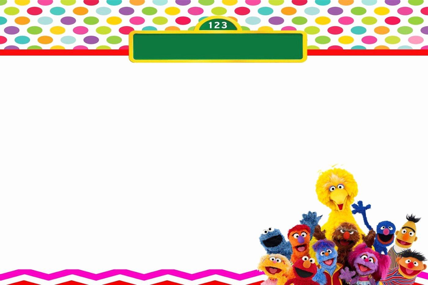 Elmo Birthday Invitation Templates Free Luxury Free Sesame Street Birthday Invitations – Free Printable