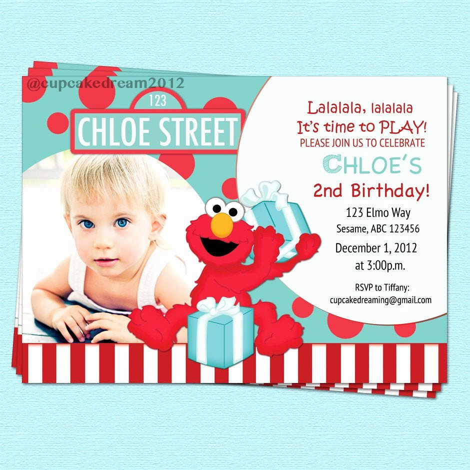 Elmo Birthday Invitation Templates Free New Elmo Birthday Invitations Sesame Street Inspired by