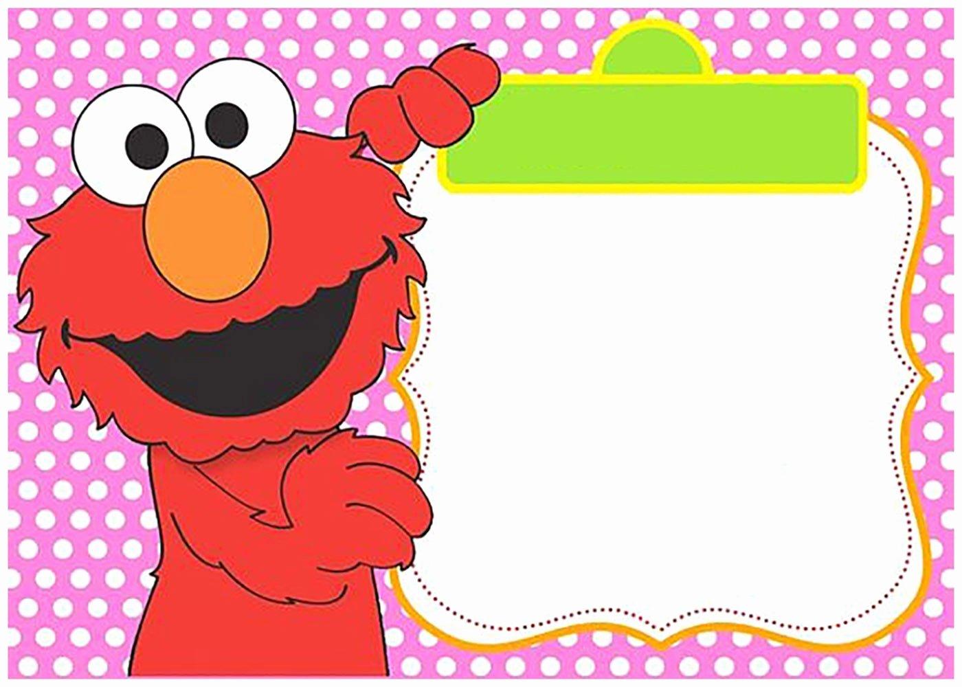 Elmo Birthday Invitation Templates Free New Free Printable Elmo Invitation Templates