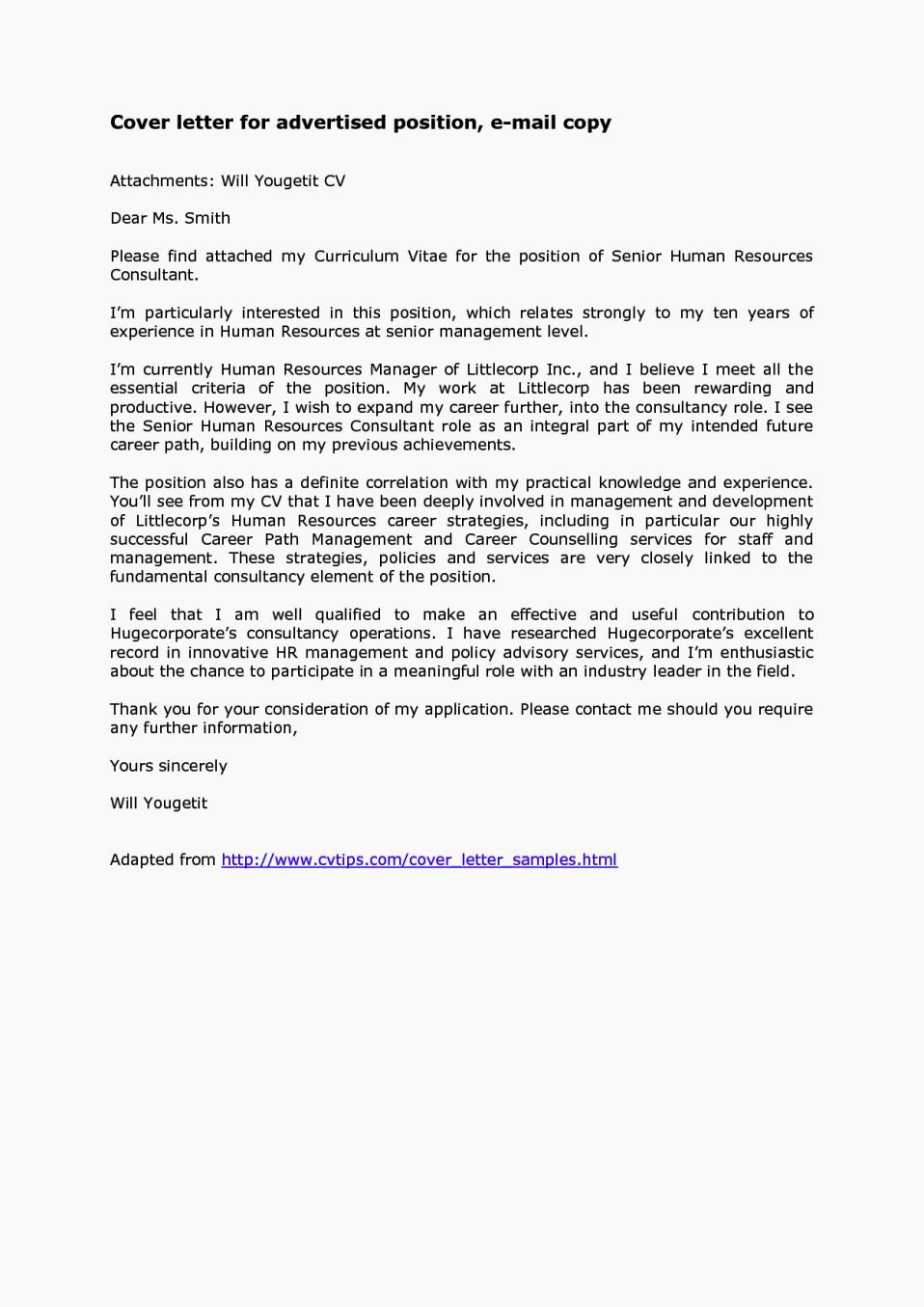 Email Cover Letter for Resume Inspirational Sample Cover Letters for Resumes for Email E Mail Take